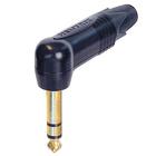 """Audio-aansluiting 3-polige 1/4 """"haakse stekker NP2RX-B"""