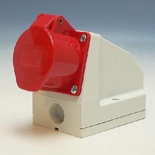 PCE CEE Wall contact box 16A 5 poles