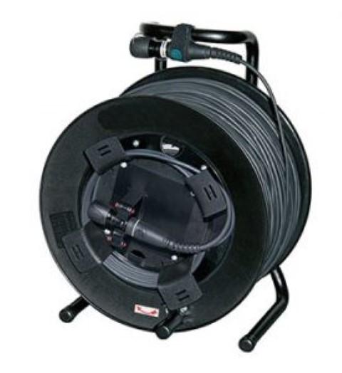 Neutrik opticalCON DUO-50 geassembleerde  kabel 50,0 mtr Multimode op Schill haspel GT310RM