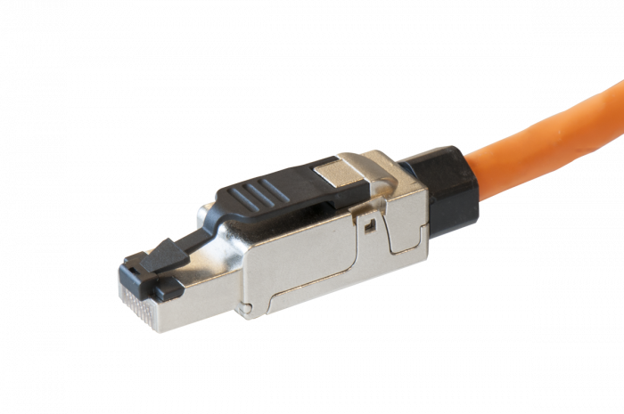 Lumberg PK704-MS RJ45 connector CAT6A. Field attachable shielded for massief round cable