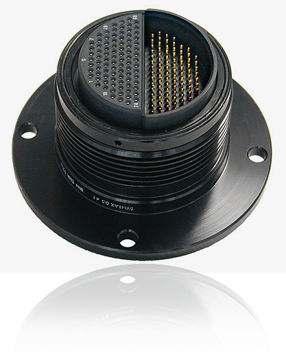 SMA Hermaphrodite Series, Gold Solder Contacts (Installed) Inline Hermaphrodite 176 pin + Cable Gland