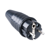 Solid rubber plug 16A, 250V  With bus and protective earth