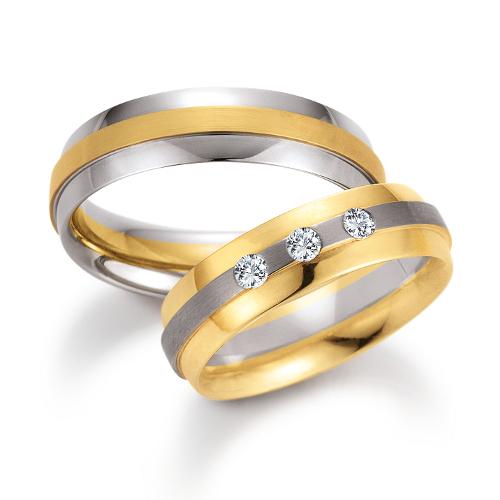 Bicolor gouden trouwringen