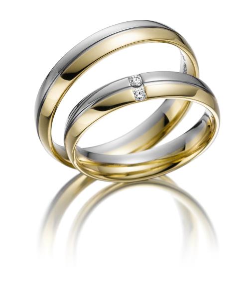 Bicolor Trouwringen Heren Ring Gratis