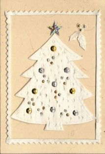 Witte kerstboom