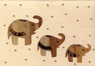 Drie olifanten met glitters