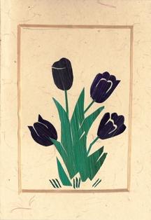 Blauwe tulpen