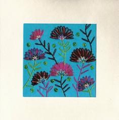 Waaierbloemen, blauw