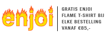 Gratis enjoi Flame t-shirt