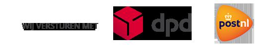 Wij versturen met DPD / PostNL
