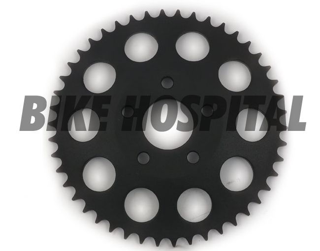 REAR SPROCKET, BLACK. 49T