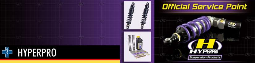 2 - We zijn nu officieel service punt van Hyperpro Suspension Products geworden