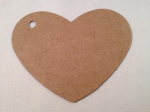 Hartje bruin karton