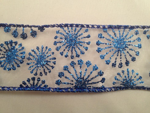 blauw glitter
