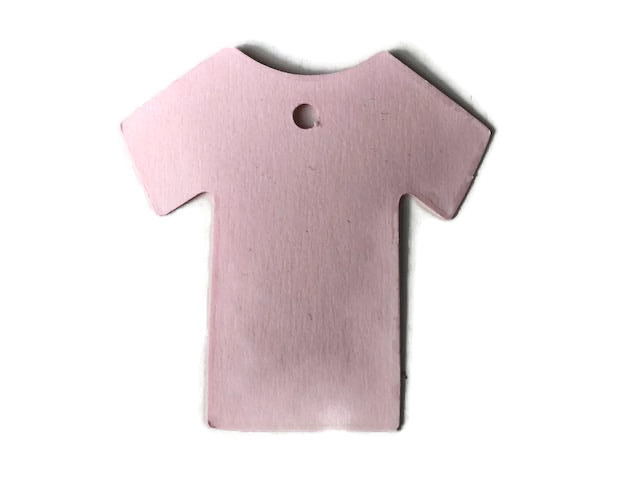 Bedankkaartje babyshirt roze