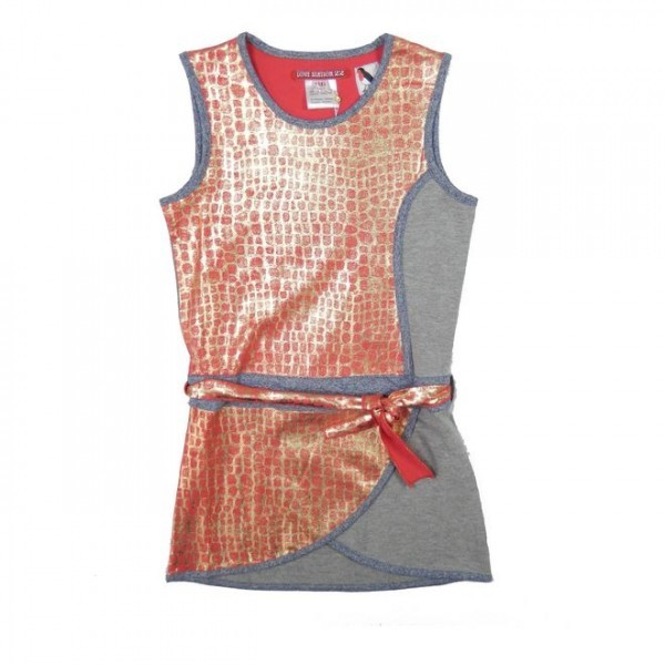 LoveStation22 Jurk Imani Pink Gold Grey
