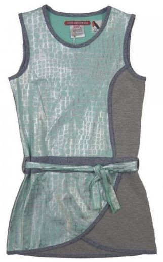 LoveStation22 Jurk Janna Mint Silver Grey