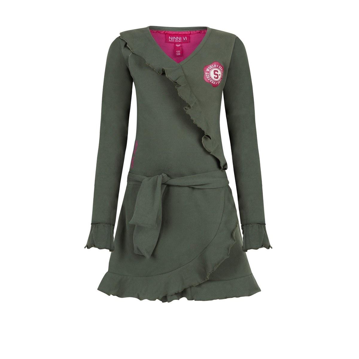Ninni Vi jurk army green (NVFW18-66)