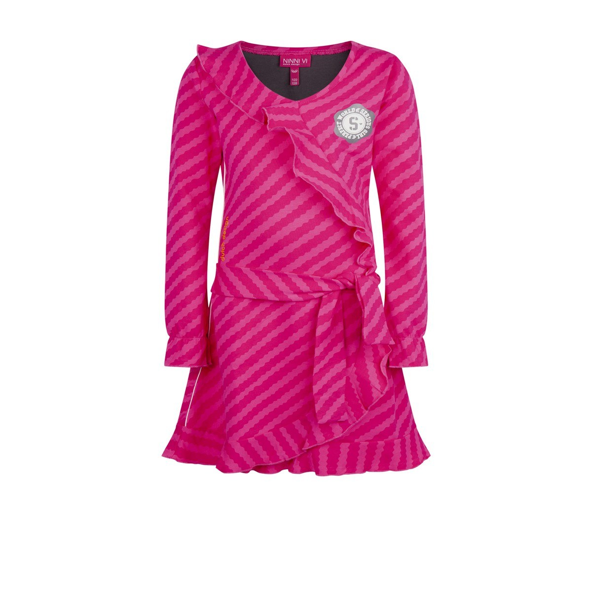 Ninni Vi jurk AOP 3 pink (NVFW18-66)