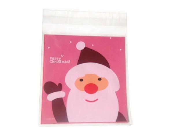 Plastic verpakkingszakje kerstman