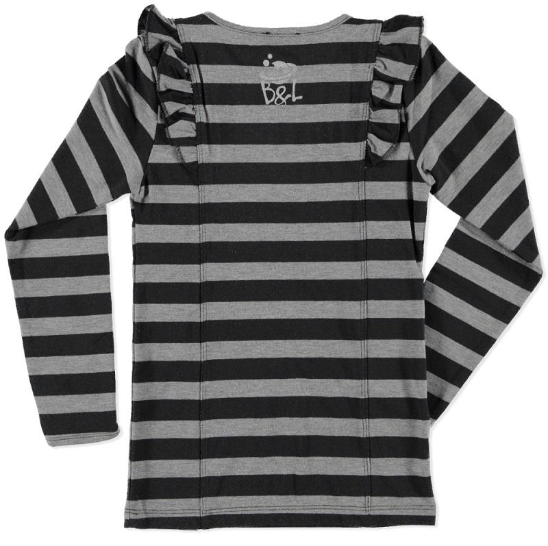Billy & Lilly longsleeve Charlotte stripe grey melee-dark grey