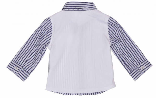Gymp Blouse shirt Mr Perfect blauw wit gestreept