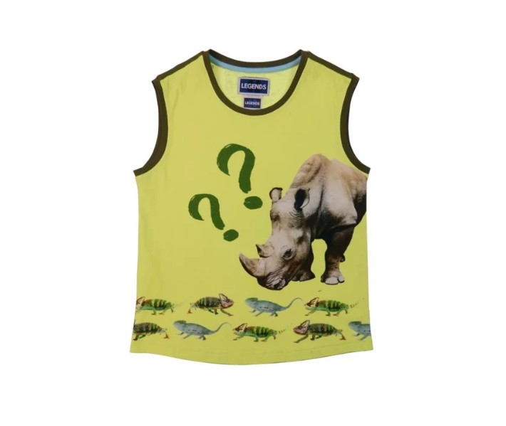 Legends22 sports top Rhino surprise yellow fotoprint (19-156)