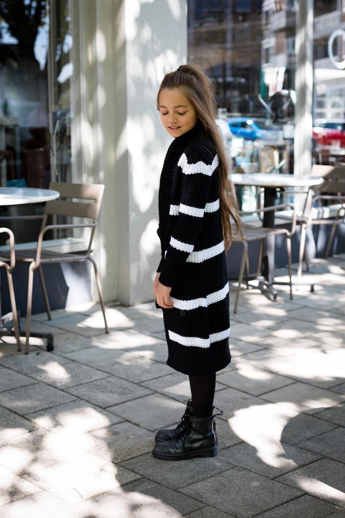 Levv vest Dilana black stripe