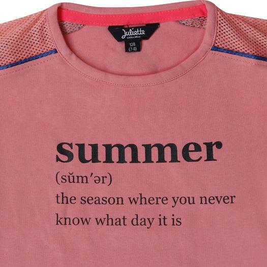 Little Miss Juliette shirt Summer PNK (15-1205)