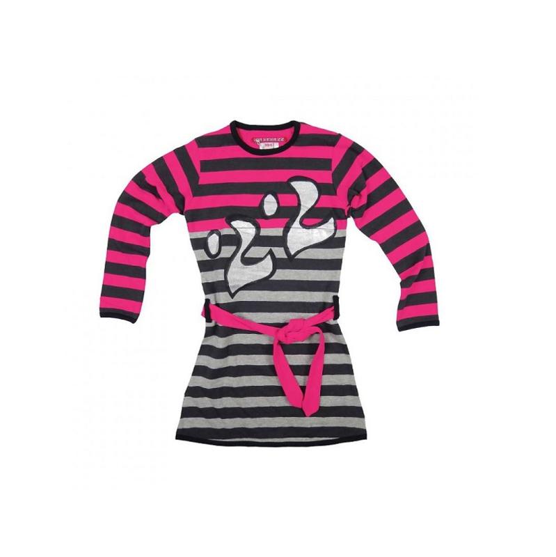 LoveStation22 Jurk Anabelle pink grey
