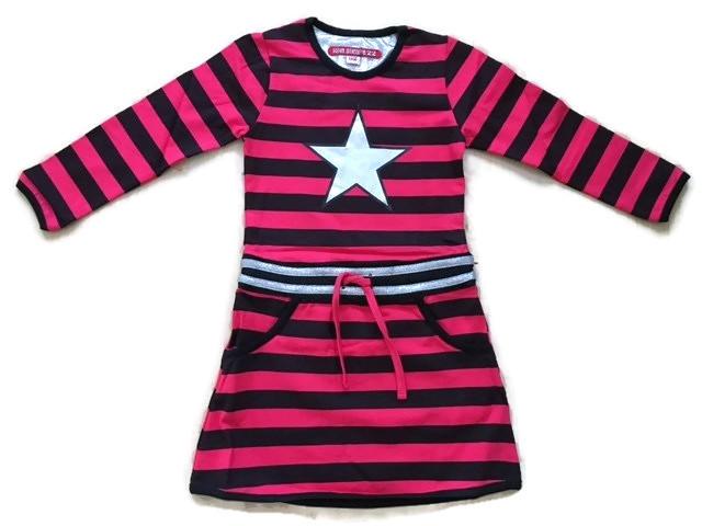LoveStation22 Jurk Fay black pink (speciale editie)