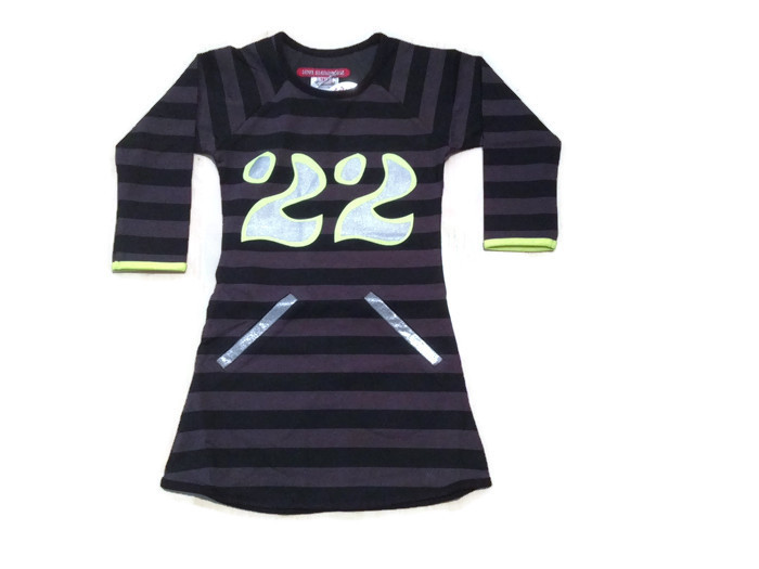 LoveStation22 Jurk Danique grey black (speciale editie zonder ritsjes)