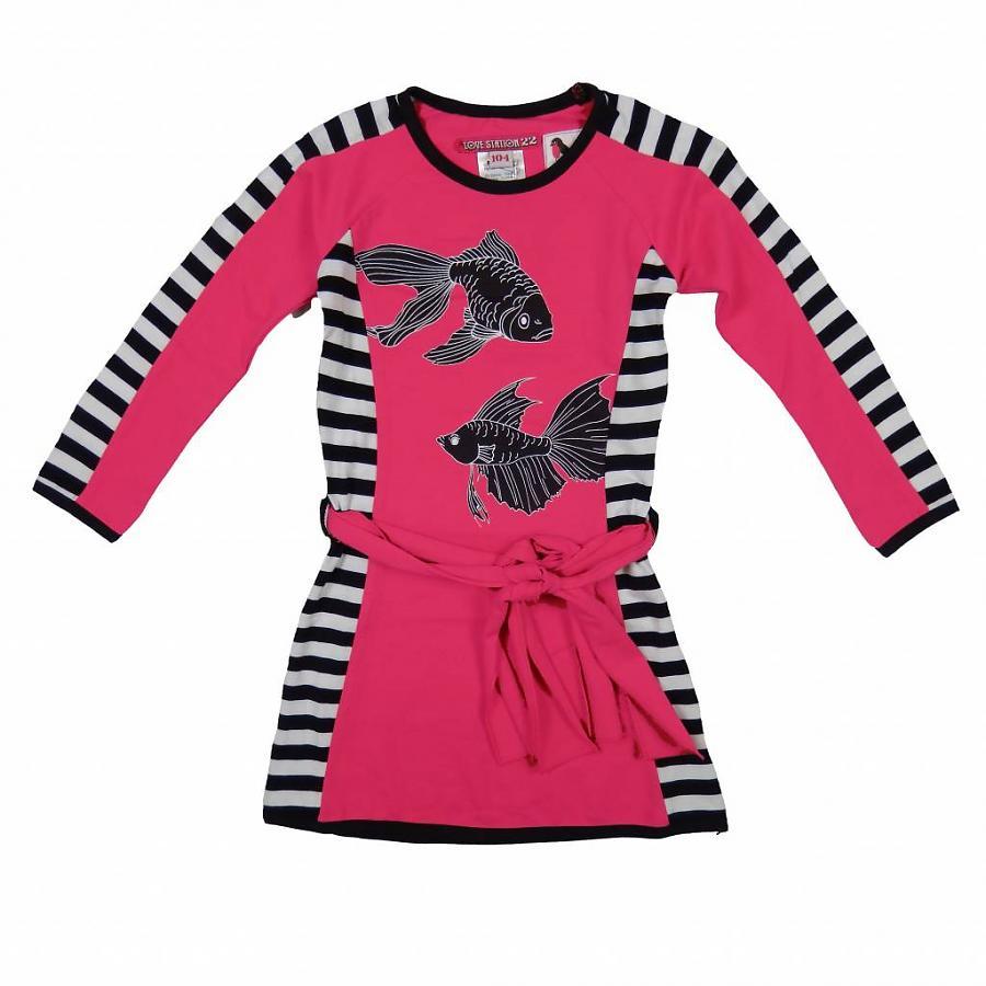 LoveStation22 Jurk Nena pink (vissen)