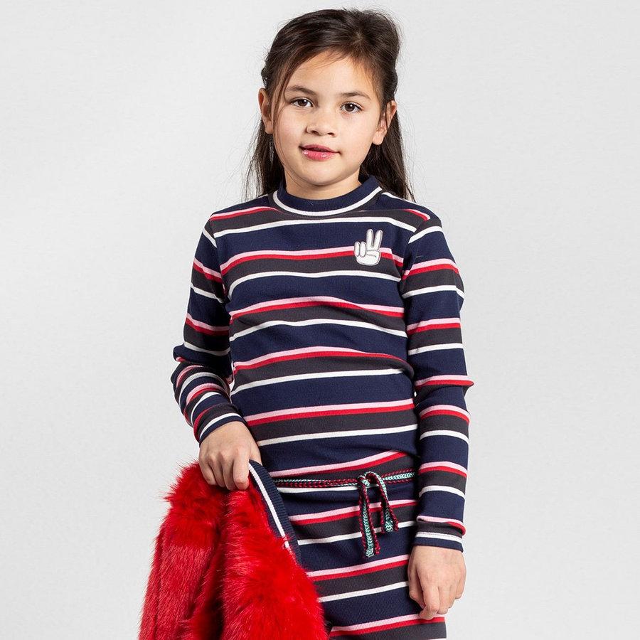 Quapi jurk Tahira navy stripe