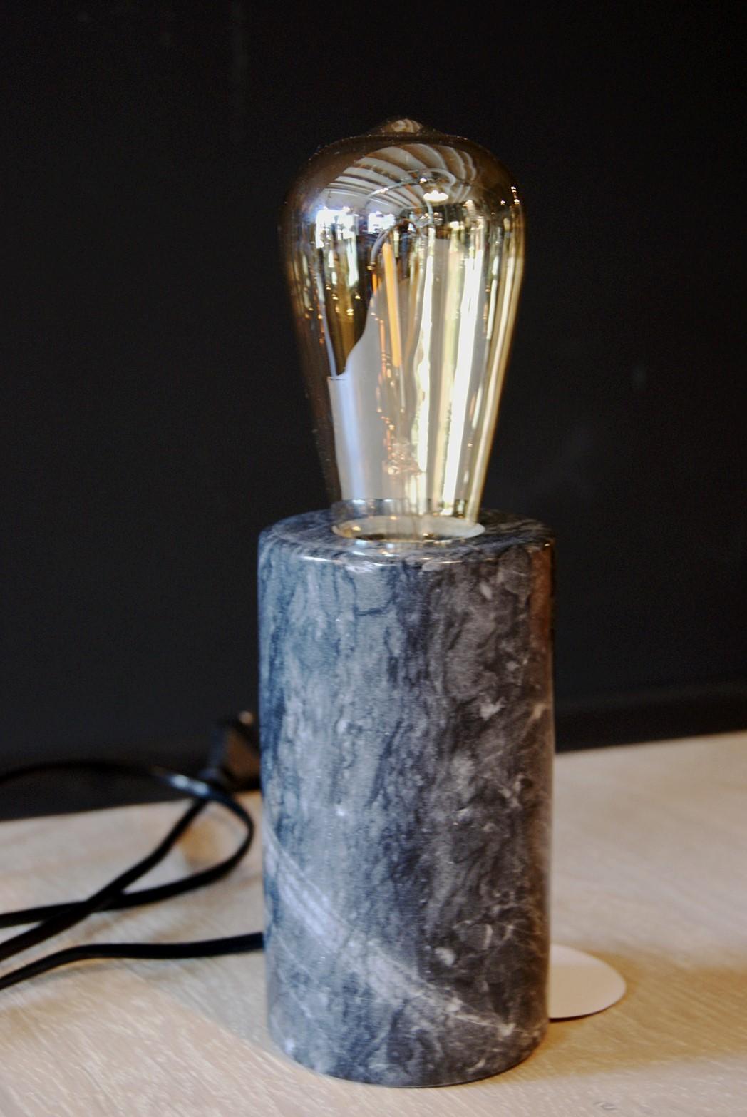 Lampenvoet donker marmer