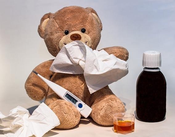 Ziek griep verkoudheid keelpijn