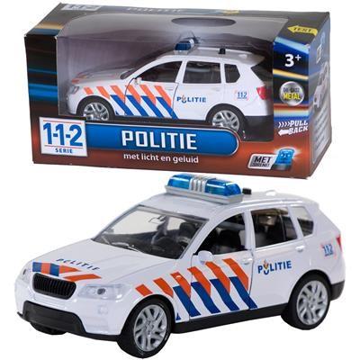 Politieauto + licht/geluid 1:43