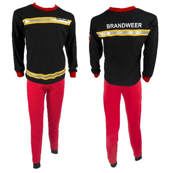 Brandweer Pyjama zwart/rood