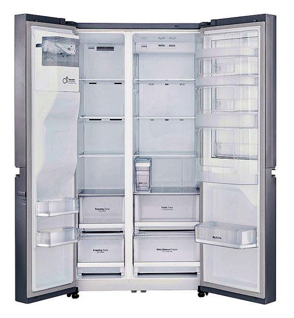 Amerikaanse koelkast met waterreservoir