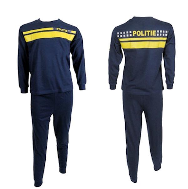 Politie pyjama nieuwe kleuren