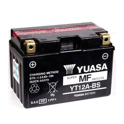 Yuasa YT12A-BS Accu Onderhoudsvrij
