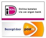 Veilig betalen via iDEAL, bezorgd via PostNL
