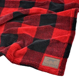 TALL TAILS FLEECE BLANKET 50X76CM HUNTERS PLAID
