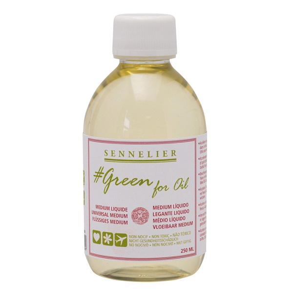 Sennelier #Green For Oil ? Medium Liquid 100 ml
