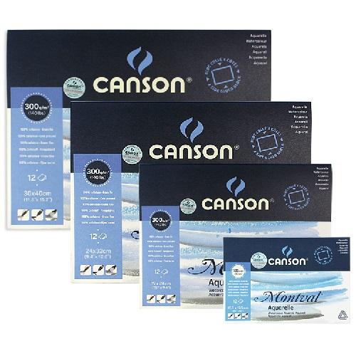 Canson Montval Aquarelblok 12st 300g/m2 24 x 32 cm