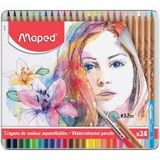 Maped aquarelpotloden 24x