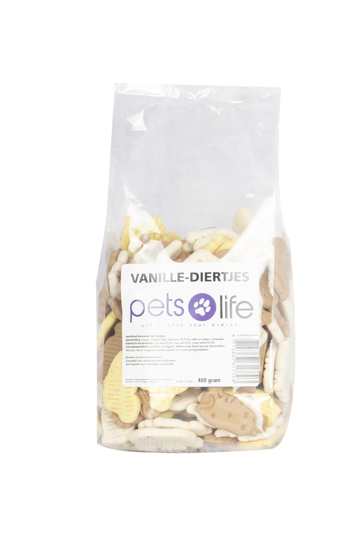 PETS LIFE VANILLE-DIERTJES 400 GR.