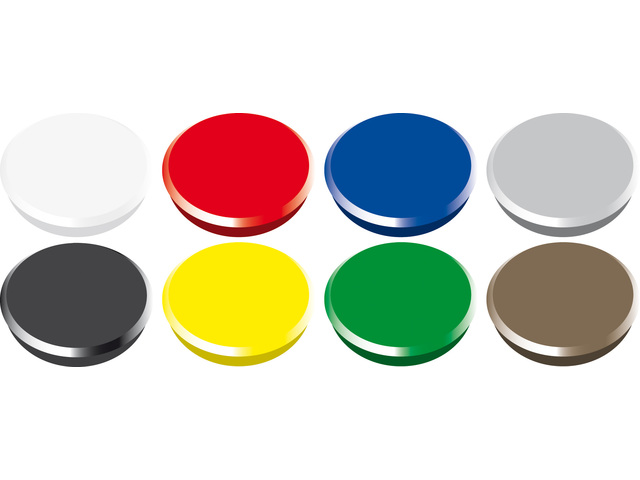 ALCO MAGNEET 24MM ROND BLISTER A 6 ASSORTI