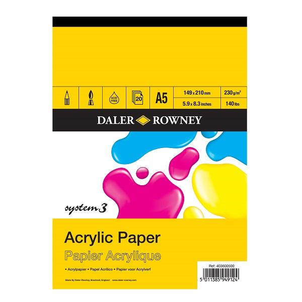 Daler Rowney System3 Acryl Papier 230 g/m2 A5