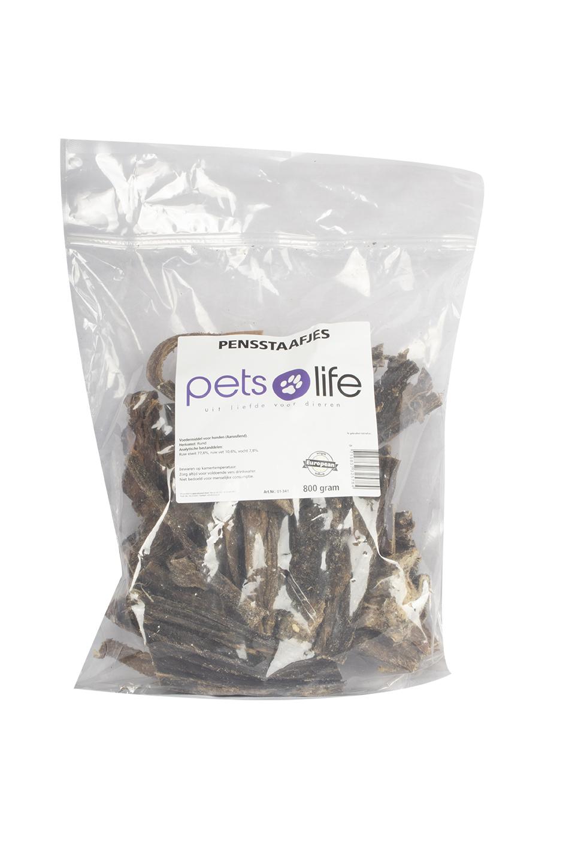 PETS LIFE PENSSTAAFJES 800 GR.